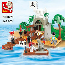 Sluban B0278 Caribbean Pirate Skull House DIY Building Block Toy lego Compatible