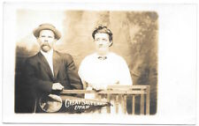 Real Photo Postcard Husband & Wife in Great Salt Lake, Utah Photo Studio~104712
