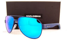 Brand New Dolce & Gabbana Sunglasses DG 2149 1273/25 Blue Rubber/Blue Mirror Men
