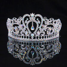 Bridal Colour Diamante Crystal Tiara Wedding Prom Pageant Crown Hair Jewelry NEW