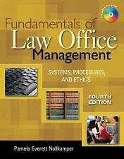 Fundamentals of Law Office Management by Pamela Everett-Nollkamper (2008,...