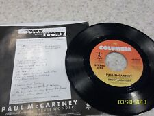 Paul McCartney Ebony and Ivory/ Rainclouds 45 Picture Sleeve