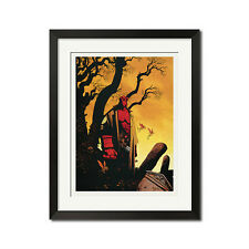 Hellboy Urban Comic Art Poster Print 0474