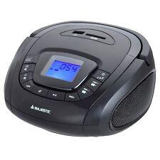 Majestic ah240 stereo lettore usb aux sd mp3 radio portatile con allarme  e NERO