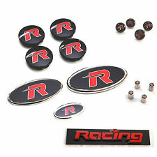 R Emblem Badge Full Set For KIA All New Rondo Carens 2013 2016