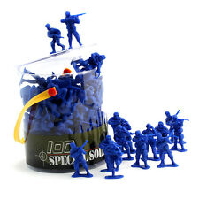 100 Piece Toy Soldier Bucket (Blue)