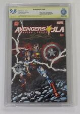 Must See!  CBCS Avengers JLA No. 4, 2004, Graded 9.8 Signed Busiek, George Perez