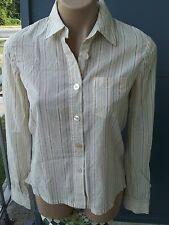 MARC JACOBS Cotton Striped Crew Neck Long Sleeve Button Down Shirt Sz 4