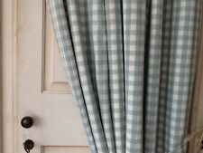 "LAURA ASHLEY GINGHAM CHECK DUCKEGG NTERLINED DOOR CURTAIN - NEW 90"" DROP"