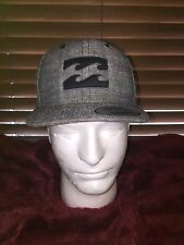 Men's NWOT BILLA BONG Adjustable Snap Gray Hat H-77