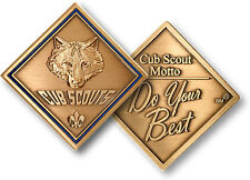 Cub Scout Motto Challenge Coin Rank Badge Patch Insignia Boy Scouting Logo