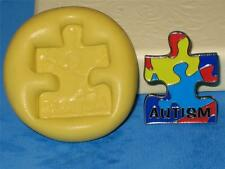 Autism Awareness Puzzle Piece Silicone Push Mold Food Safe A139 Fondant Candy