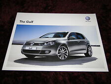 VW Golf Mk6 Brochure 2012 - Jan 2012 Issue inc Golf R & GTi Edition 35 + Prices