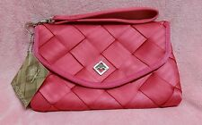 Maggie Bags Seatbelt Pink Evening Prom Wedding Clutch Bag with Strap NWT