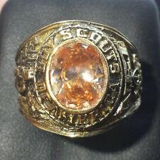 Boy Scouts 10k Gold Filled Class Ring Orange Stone 18g Sz.12.5