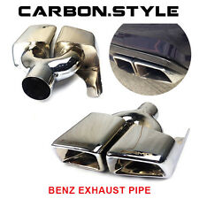 2011-2015 For Mercedes-Benz E-Class W212 2D 4D E63AMG Style Exhaust Pipe