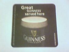 GREAT GUINNESS SERVED HERE  -  Beermat / Coaster 2 sided