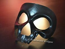 Black Skull Leather Mask Skeletor Masquerade Halloween Horror Cosplay UNISEX