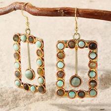 New Tara Mesa Amazanite & Labradorite Beaded Pendulum Earrings