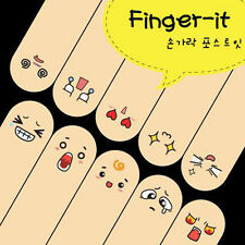 s! Cute 200 Pages Ten Fingers Sticker Bookmark Flags Memo Marker Sticky Note 1PC