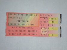 The Pretenders Concert Ticket Stub-1984-Chrissie Hynde-Learning to Crawl Tour-NY