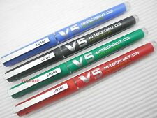 4 Colors, Pilot V5 0.5mm Hi-Tecpoint Cartridge System Refillable Rollerball Pen