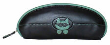 CICCIA CATS EYES PEEPING TOM BLACK GREEN LEATHER GLASSES SPECTACLE CASE RRP £20