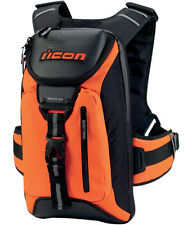 NEW ICON SQUAD 3 BACKPACK BAG GEAR STREET MOTORCYCLE BIKE MIL-SPEC ORANGE