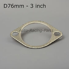 "*76mm* STRONG FLAT exhaust GASKET 3"" AUDI A3 1.8 TURBO S3 S4 RS4 S6 RS6 S8"