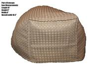 """PAIR OF BEIGE WAFFLE ARM CAPS COVERS FOR CHAIRS SETTEES ARMCAPS 15"""" Long"""