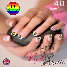 40 x Gay Pride gr1 Nail Art Sticker Water Decals Transfer Stickers Tips