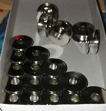 20 Metal Bobbins for Industrial Sewing Machines-Brother Juki Singer Toyota +more