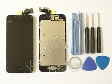 For iPhone 5 LCD Black Display Screen Digitizer Complete Home button + Camera