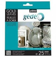 GEDEO SILVER METAL LEAF FINISH 25 LEAVES FOIL ALUMINIUM DECORATION GILDING PEBEO