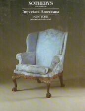 Sotheby's #5551 Imp. Americana Furniture & Folk Art 1987