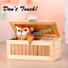 Useless Box Leave Me Alone Box Wooden Most Machine Don't Touch Tiger Toy Gift