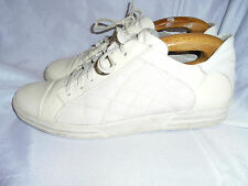 CESARE PACIOTTI SMART MEN'S OFF WHITE LEATHER/TEXTILE TRAINERS SIZE  UK 9 EU 43
