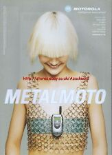 Motorola V60 Metalmoto 2002 Magazine Advert #2320