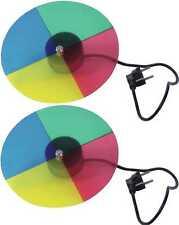 2x Farbscheibe / Farbrad 4-farbig mit Motor für Punktstrahler / PIN-Spots PAR 36