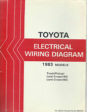 1983 Toyota Land Cruiser FJ BJ 60 Series Electrical Wiring Diagram Repair Manual