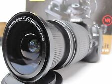 Ultra Wide Angle Macro Fisheye lens for Nikon d7100 d3300 d5300 18-200 VR II