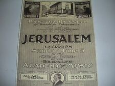 1910 Talk Advertisement C.T.Russell Jehovah Watchtower IBSA