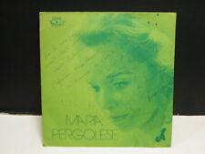 MARIA PERGOLESE Verlaine : il pleure dans mon coeur / Rosnay : revenant 657 Dédi