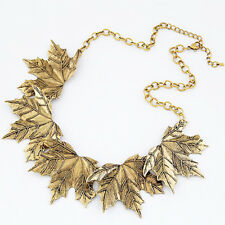 Maple Leaves Necklace Pendant Mental Women Choker Chain Jewelry Accessories EV