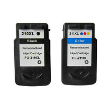 2 PACK PG210XL CL211XL Ink Cartridge for Canon PIXMA MP240 MP250 MP270 MP280