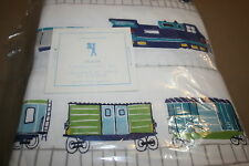 NEW 4PC POTTERY BARN KIDS FLANNEL TRAIN FULL SHEET SET NWT SOLD OUT @ PB KIDS!