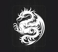Sticker decal vinyl car bike laptop macbook bumper chinese dragon tattoo white