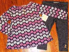 JUICY COUTURE BABY/KIDS GIRLS BRAND NEW 2Pc DRESS LEGGING SET Sz 6-12M, NWT
