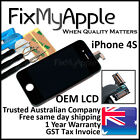 iPhone 4S Black Front Glass Touch Screen OEM LCD Digitizer Assembly Replacement