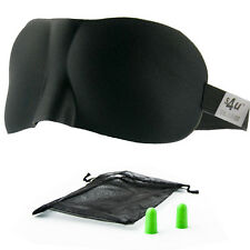 S4U Luxury Patented Contoured & Comfortable Sleep Mask + FREE Ear Plug Set